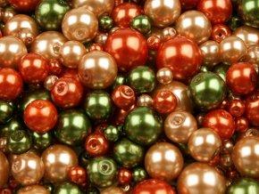 Voskované perly Ø 4-12mm různobarevný mix 100g