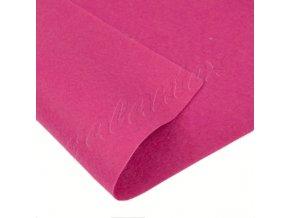 Dekorativní plsť 20x30cm 165g-m² - růžová tmavá