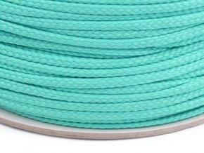 Oděvní šňůra PES OE 4mm - akvamarínová