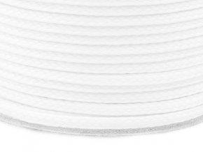 Oděvní šňůra PES 4 mm - bílá