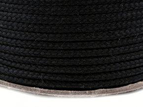 Oděvní šňůra PES Ø 4mm - černá