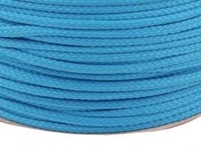 Oděvní šňůra PES Ø 4mm - kalifornská modř