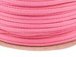 Oděvní šňůra PES 4 mm - růžová