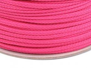 Oděvní šňůra PES OE 4mm - růžová tmavá