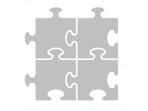 Reflexní nažehlovací aplikace - puzzle (4 kusy)