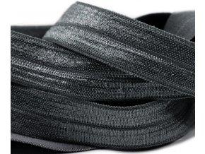 Pruženka lemovací šíře 19mm - šedá tmavá