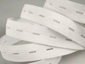 Pruženka dírková šíře 20 mm - bílá