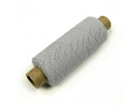Pružná nit 0,5 mm - cívka 30 m - šedá