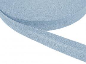 Šikmý proužek bavlněný šíře 14 mm - sv. modrý
