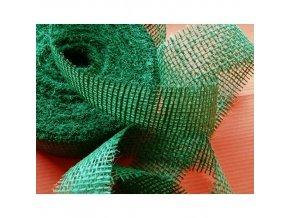Jutová stuha šíře 40mm - zelená tmavá