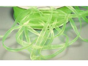 Šifónová stuha šířka 3 mm - zelená neonová (5m)