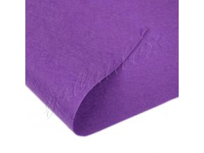 Látková dekorativní plsť 20x30cm - tm. lila