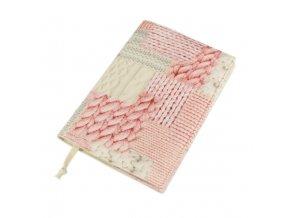Nastavitelný obal na knihu - pletený patchwork