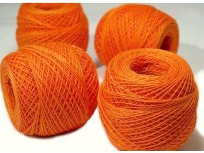 Háčkovací příze Kordonet 30 / 2194 - oranžová