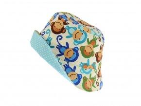 Letní klobouk opice na smetanové