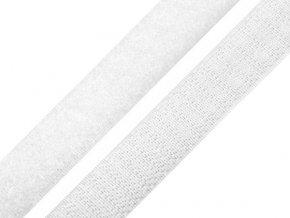 Suchý zip šíře 20 mm komplet - bílý
