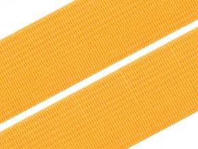 Pruženka plochá tkaná 21mm - oranžová