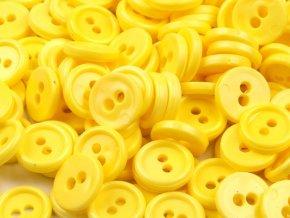 """Knoflík košilový 18"""" - žlutý"""