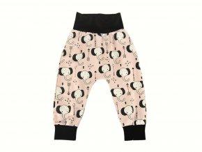 Dětské tepláky / turky - sloni na růžové