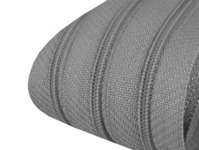Zip spirálový 3 mm metráž - šedý