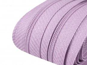 Zip spirálový 3 mm metráž - fialový světlý