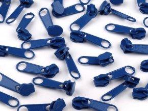 Jezdec ke spirálovým zipům 3 mm - modrý