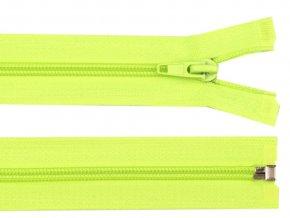 Zip spirálový dělitelný 5 mm / 40 cm - zelený neonový
