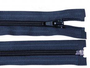 Zip spirálový dělitelný 5 mm / 40 cm - modrý tmavý
