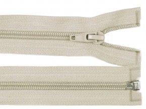 Zip spirálový dělitelný 6 mm / 40 cm - šedobéžový