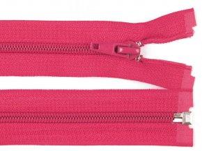 Zip spirálový dělitelný 5 mm / 45 cm - růžový malinový