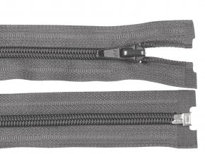 Zip spirálový dělitelný 5 mm / 45 cm - šedý tmavý