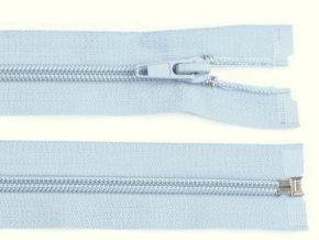 Zip spirálový dělitelný 5 mm / 40 cm - modrý světlý