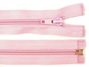 Zip spirálový dělitelný 5 mm / 50 cm - růžový světlý