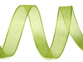 Šifónová stuha šířka 12 mm - zelená