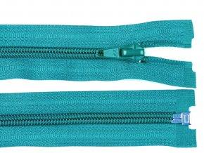 Zip spirálový dělitelný 5 mm / 40 cm - tyrkysový
