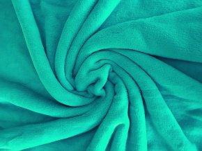 Flanel fleece - mořská zeleň