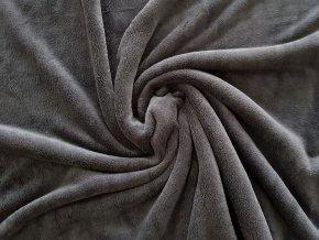 Flanel fleece - šedá tmavá