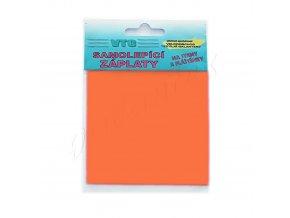 Záplata samolepící - oranžová