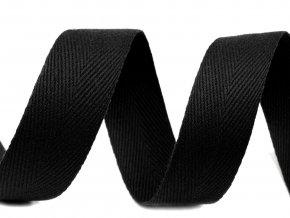 Keprovka - tkaloun šířka 20 mm / černá
