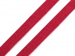 Oděvní šňůra plochá 10 mm - růžová malinová