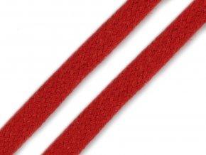 Oděvní šňůra plochá 10 mm - červená