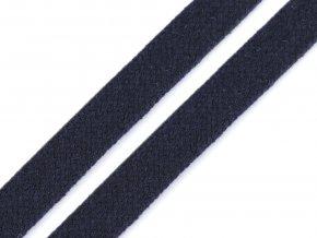 Oděvní šňůra plochá 15 mm - modrá tmavá