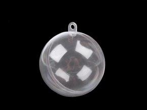 Plastová koule Ø 6 cm dvoudílná