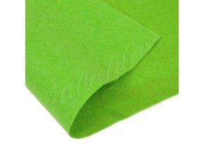 Látková dekorativní plsť 20x25 cm - zelená jarní
