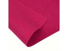 Látková dekorativní plsť 20x25 cm - růžová malinová