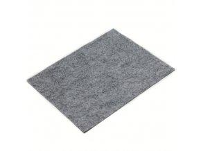 Látková dekorativní plsť 20x25 cm - šedá melír