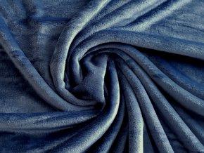Flanel fleece - ocelově modrá
