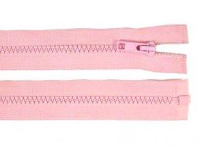 Zip kostěný dělitelný 5 mm / 30 cm sv. růžový