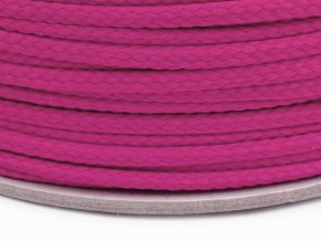 Oděvní šňůra PES OE 4mm - cyklámen