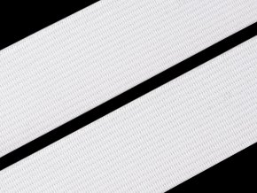 Pruženka plochá 25 mm - bílá